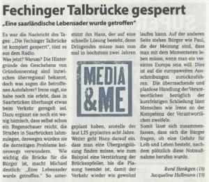 Fechinger Talbrücke gesperrt (von René Henkgen und Jacqueline Hallmann)